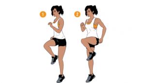Weekend Challenge: Running Knee Raises