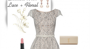 Stylespiration: Delicate Floral Lace Dress