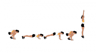 10-Minute Burpee Pyramid Full Body Workout