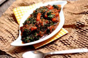 African Cuisine kale efo