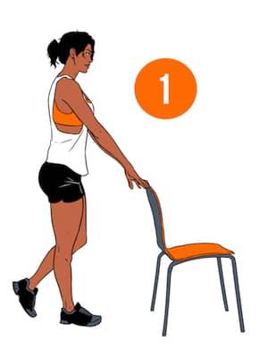 Single Leg Squats Step 1