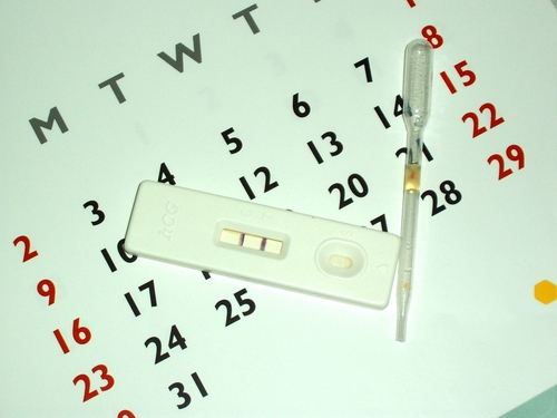 preg-test-on-calendar
