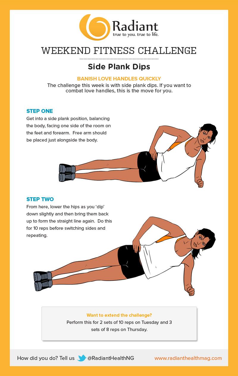 Weekend Challenge: Side Plank Dips - Radiant Health Magazine