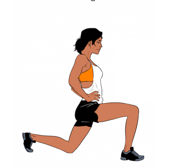 Stationary Pulse Lunges - 3