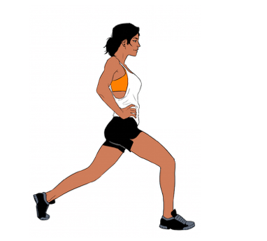 Stationary Pulse Lunges - 4