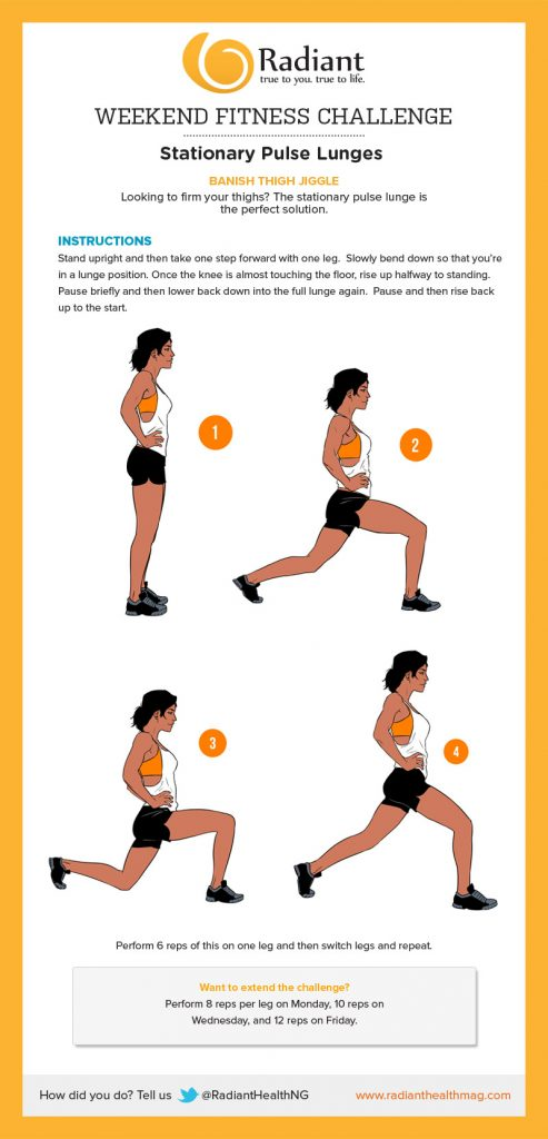 Stationary Pulse Lunges