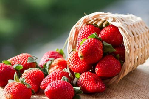 Food Facials - strawberries
